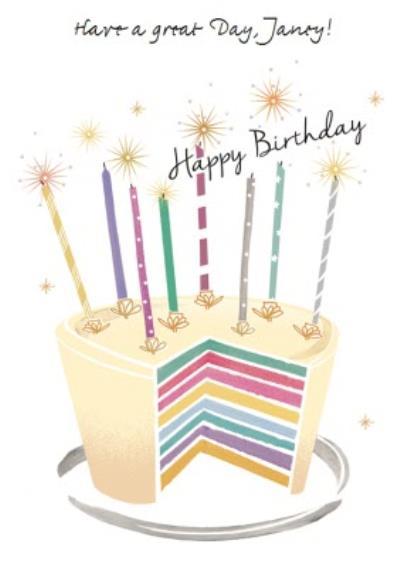 Birthday Card - Birthday Cake Card