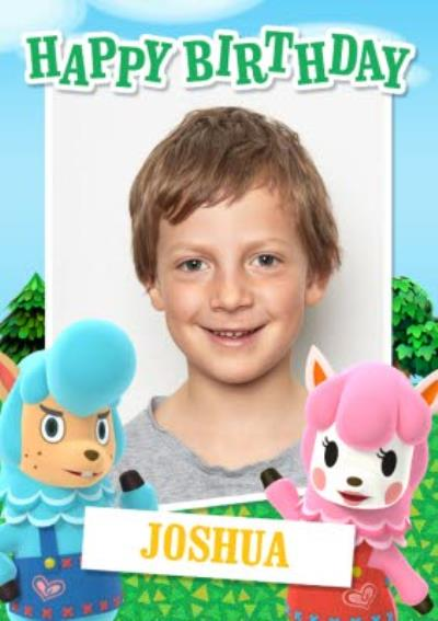Nintendo Animal Crossing Photo Upload Birthday Card