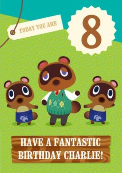 Nintendo Animal Crossing Birthday Card