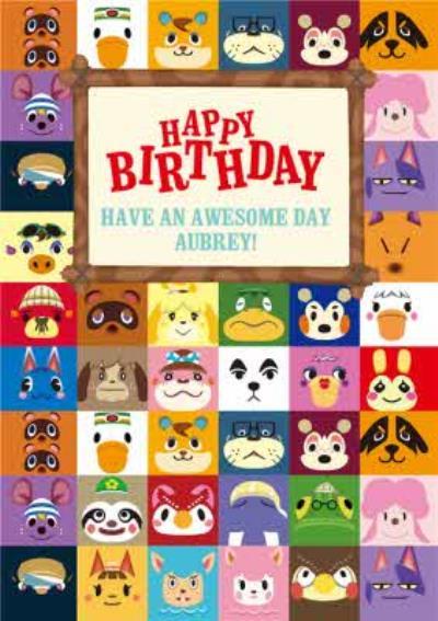 Nintendo Animal Crossing Awesome Birthday Card