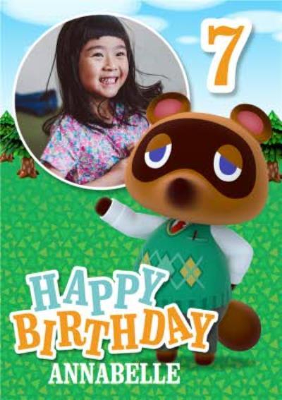 Nintendo Animal Crossing Tom Nook 7th Birthday Photo Upload Card