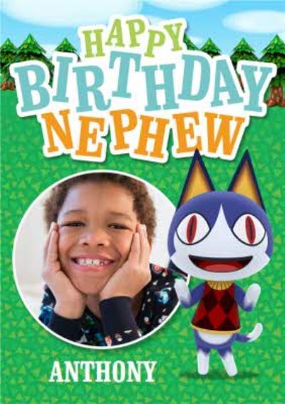 Nintendo Animal Crossing Rover Photo Upload Nephew Birthday Card