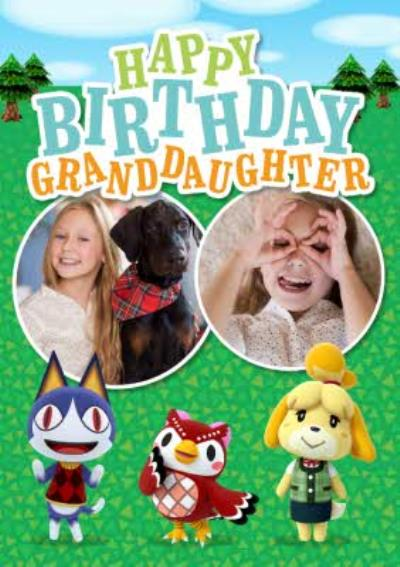 Nintendo Animal Crossing Granddaughter Photo Upload Birthday Card