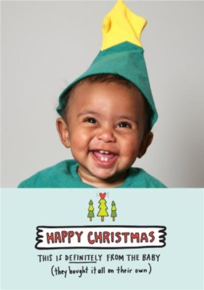Happy Christmas From The Baby Photo Upload Card