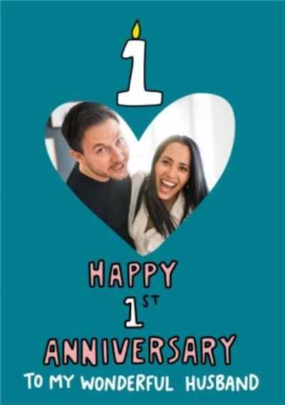 Angela Chick Happy 1st Anniversary Husband Card