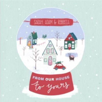 From Our Home To Yours Personalised Christmas Card