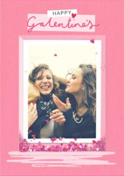 Heart Confetti Happy Galentine's Day Friendship Card
