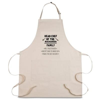 Personalised Head Chef of the Family Apron