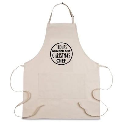 Personalised No. 1 Christmas Chef Apron