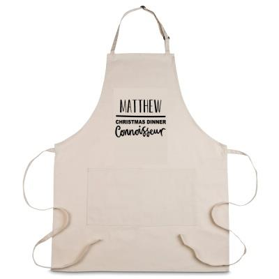 Personalised Christmas Dinner Connoisseur Apron