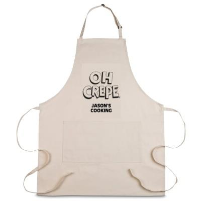 Personalised 'Oh Crepe' Apron