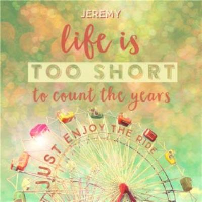Ferris Wheel Life Is Too Short To Count The Years Personalised Birthday Card