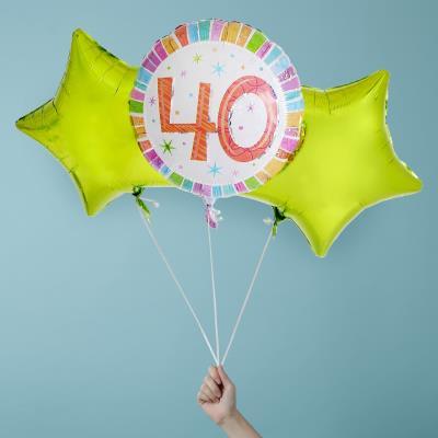 Happy 40th Balloon Bouquet