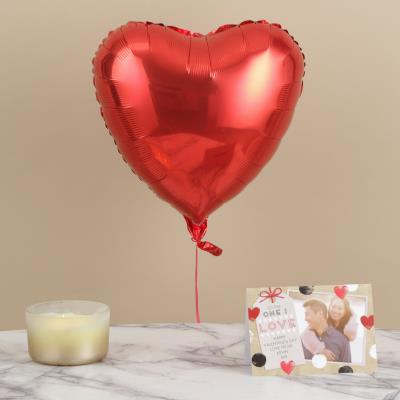 Single Red Heart Balloon