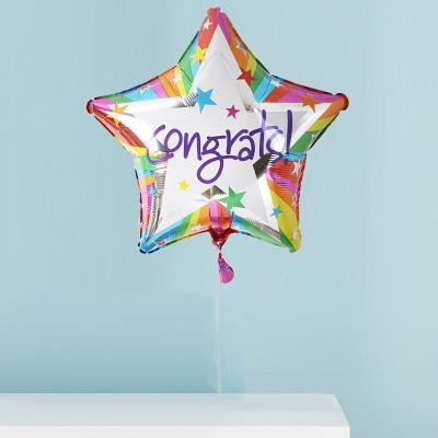 Congrats Rainbow Star Balloon