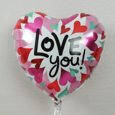 Love You Hearts Helium Balloon