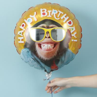 Happy Birthday Monkey Balloon