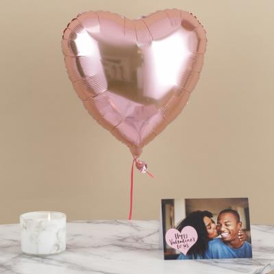 Rose Gold Heart Balloon