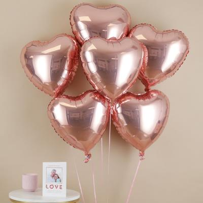 Rose Gold Heart Balloon Bouquet