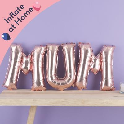 Letterbox 'Mum' Rose Gold Balloon