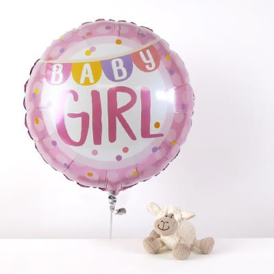 New Baby Girl and Lamb Soft Toy Gift Set