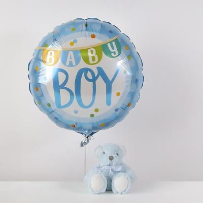 New Baby Boy Balloon & Soft Toy Gift Set