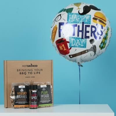 Foodie Dad Balloon & BBQ Sauce Gift Set