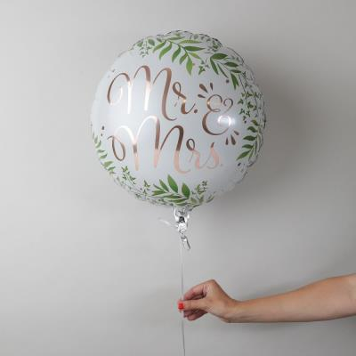 Mr & Mrs Wedding Celebration Balloon