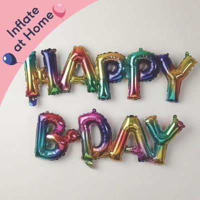 Letterbox Happy Birthday Rainbow Balloon Banner