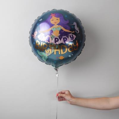Happy Birthday Mermaid Balloon