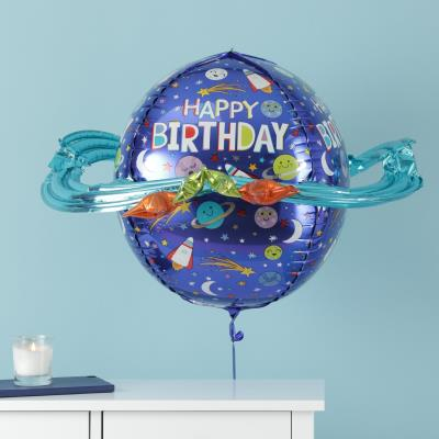 Giant 3-D Happy Birthday Planet Balloon