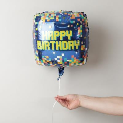 Happy Birthday Geometric Balloon