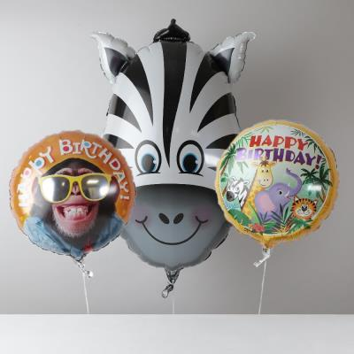 Giant Jungle Birthday Balloon Bouquet
