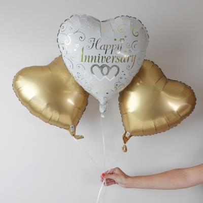 Happy Anniversary Heart Balloon Bouquet