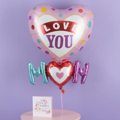 Giant Mother's Day I Love You Heart Balloon