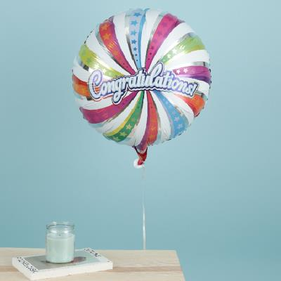 Congratulations Swirl Balloon