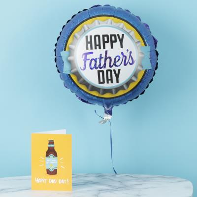 Happy Father's Day Bottlecap Balloon