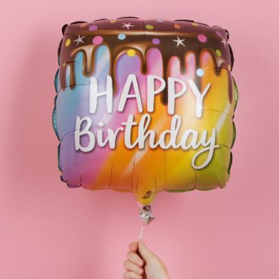 Happy Birthday Drip Cake Balloon
