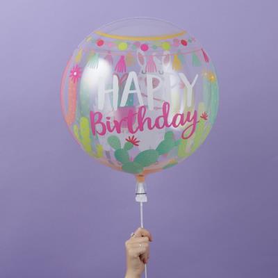 Birthday Llama Bubble Balloon