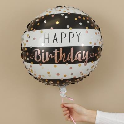 Happy Birthday Confetti Stripes Balloon