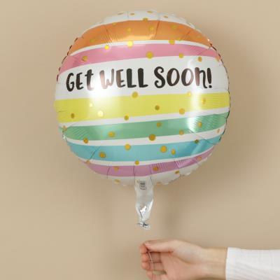 Get Well Soon Stripes Balloon