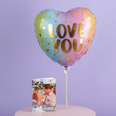 Ombre Love You Balloon