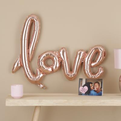 Letterbox Rose Gold Love