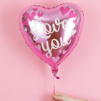 Ombre Love You Heart Balloon
