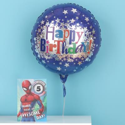 Happy Birthday Blue & Silver Stars