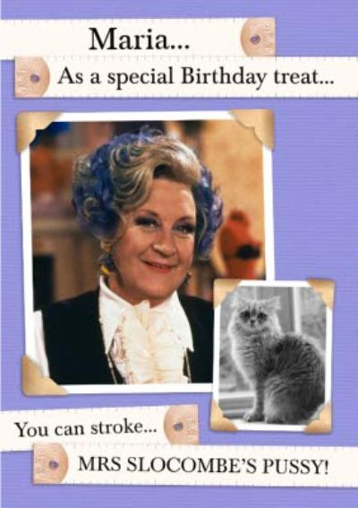 Are You Being Served Mrs Slocombe Special Birthday Treat Card