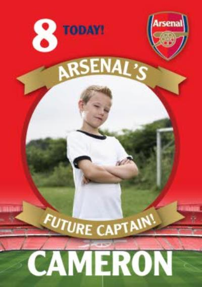 Arsenal FC Birthday Card - 8 today Arsenal's Future Captain