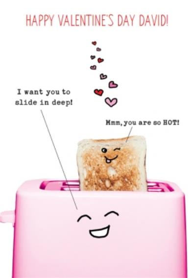 Naughty And Funny Toaster Valentine's Day Card