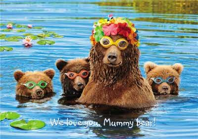 We Love Uou Mummy Bear - Photographic Mother's Day Card - Bear Family