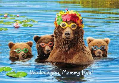 We Love you Mammy Bear - Photographic Mother's Day Card - Bear Family